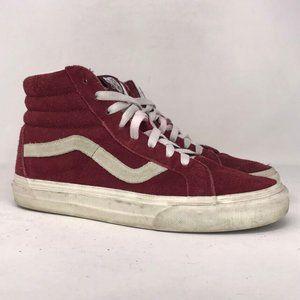Vans Men OffThe Wall Red Skate Shoe Sz M 7.5 W 8.5